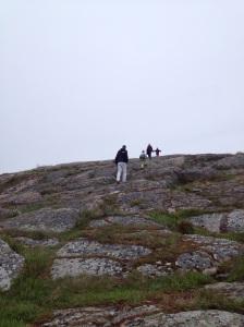 På vej mod det højeste punkt, som også er helikopterplads
