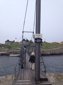Albert på broen mod Frederiksø